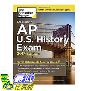 [106美國直購] 2017美國暢銷書 Cracking the AP U.S. History Exam, 2017 Edition:Proven Techniques to Help You Score a 5