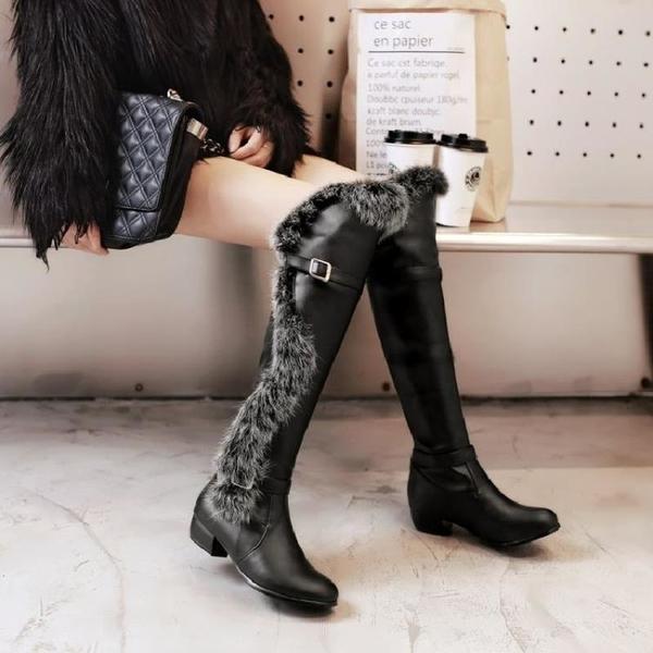 中大尺碼女鞋 韓版顯瘦女靴平跟過膝長靴女高筒靴瘦腿靴子40 41 43