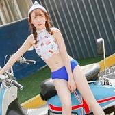 泳衣(三件式)-比基尼-時尚清新冰淇淋印花女泳裝-2色73mb1【時尚巴黎】
