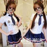 女學生可愛夏裝水手服制服校服班服海軍風學院風連衣女主播裙套裝