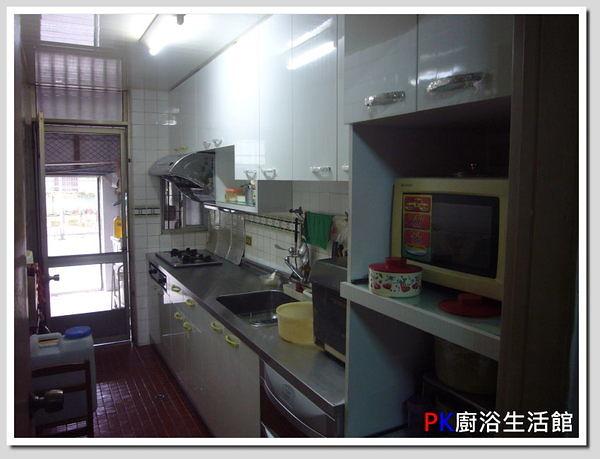 ❤PK廚浴生活館 實體店面❤ 高雄 廚房歐化系統櫥具 一字型上下櫥流理台 白鐵台面 美耐板