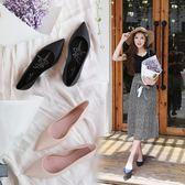 時尚淺口雨鞋平底果凍鞋尖頭防水鞋女單鞋休閒純色工作鞋   歐韓時代