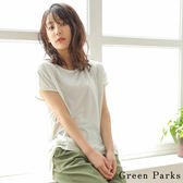 ❖ Summer ❖ 下擺鬆緊造型圓點圖案上衣 - Green Parks