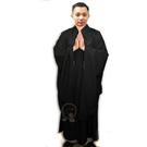海青(黑色)附海青袋 47號 身高149-151公分【十方佛教文物】