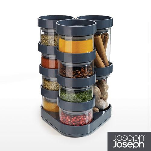《Joseph Joseph英國創意餐廚》太空積木收納罐(十件組-灰)-81004