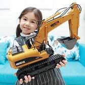 遙控車 超大號合金遙控挖掘機充電動工程車無線兒童挖土機玩具男孩耐摔 新年特惠