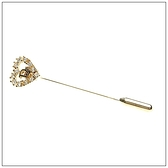 Christian Dior CD鑲鑽愛心造型胸針(金色)990193