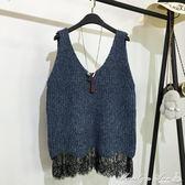 馬甲 針織吊帶背心女外穿春秋新款韓版寬鬆百搭毛線背心外搭毛衣馬甲潮 瑪麗蓮安