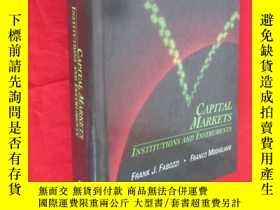 二手書博民逛書店CAPITAL罕見MARKETS : INSTITUTIONS AND INSTRUMENTS (16開,精裝 )
