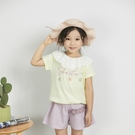 氣質雕花蕾絲刺繡上衣 春夏童裝 女童上衣 女童短T 女童棉T 女童短袖 女童T恤