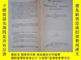 二手書博民逛書店THE罕見PRINCIPLES OF THE INTERNATIONAL PHONETIC ASSOCIATION