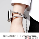 不銹鋼金屬鑲鉆蘋果手表apple watch錶帶5/4/3/2/1代【邦邦男裝】