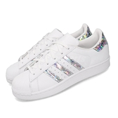 adidas 休閒鞋 Superstar J 白 銀 女鞋 大童鞋 運動鞋 貝殼頭 【ACS】 F33889