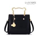 手提包 可愛小熊金屬手提掛飾方包 萌趣黑-La Poupee樂芙比質感包飾 (預購+好禮)