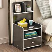 簡約現代收納床柜簡易床頭柜組裝小柜子儲物柜宿舍臥室組裝床邊柜WY
