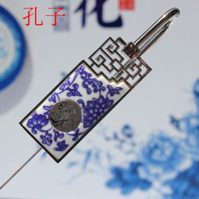 [銀聯網] 中國特色真瓷青花瓷金屬書籤 2入