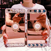 蘋果 iPhone12 iPhone11 Pro Max XR XS Max IX I8 Plus I7 I6S 鏡面水晶支架殼 手機殼 鏡面軟殼 貼鑽
