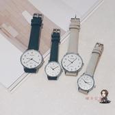 手錶 手錶男女中學生高中生潮流韓版簡約石英個性皮帶超薄 4色 交換禮物