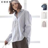 白色襯衫 直條紋襯衫 防曬外套 和風 日本品牌 日本品牌【coen】