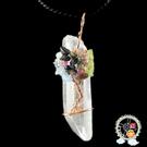 水晶原礦鑲東菱玉 & 紫水晶墜飾【十方佛教文物】