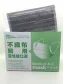 【醫博士】不織布醫用活性碳口罩 50片/盒(單片包裝)
