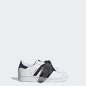 Adidas Superstar C [Q47379] 中童 休閒鞋 運動 經典 復古 綁帶 貝殼頭 三葉草 白黑