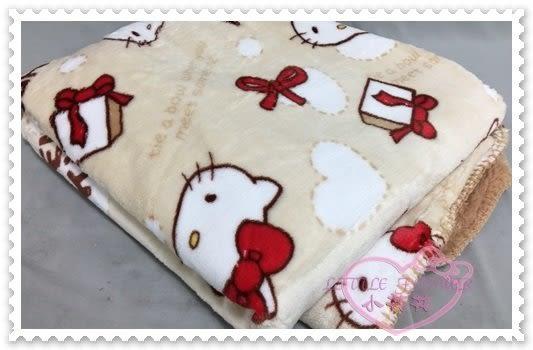 ♥小花花日本精品♥Hello Kitty 毛毯被毯保暖毯法蘭絨羊羔絨大臉插畫風蝴蝶結緞帶滿版圖 (預購)