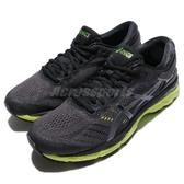 【六折特賣】Asics 慢跑鞋 Gel-Kayano 24 黑 綠 透氣穩定 運動鞋 男鞋【PUMP306】 T749N9085