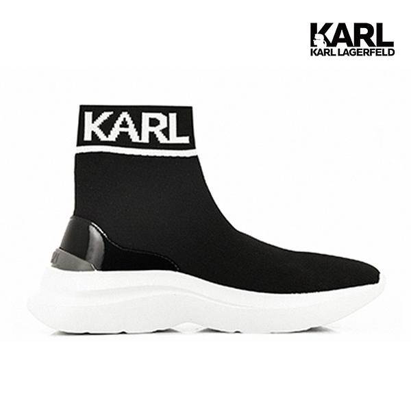KARL LAGERFELD SKYLINE LOGO襪套運動鞋-黑
