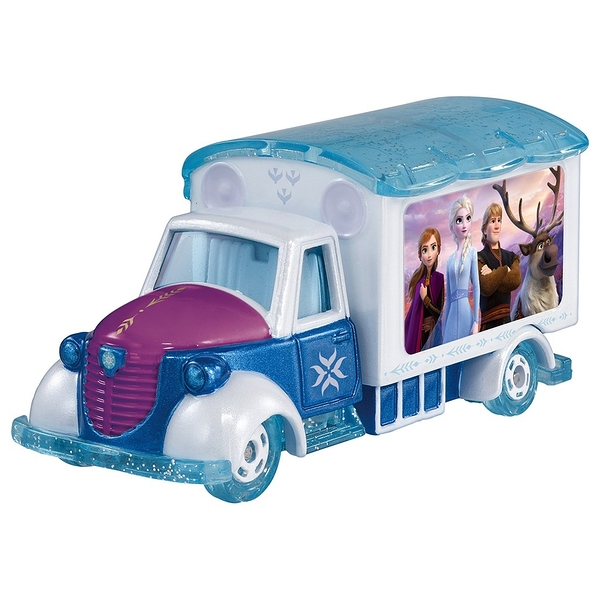 《 TOMICA 》DM冰雪奇緣2電影宣傳車 / JOYBUS玩具百貨