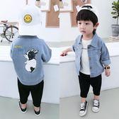 寶寶牛仔外套男1-2-3歲潮男童秋裝牛仔衣新款韓版兒童夾克衫