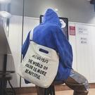 FINDSENSE 品牌 韓國 潮 男帥氣 印花 港風  高品質 單肩 手提 帆