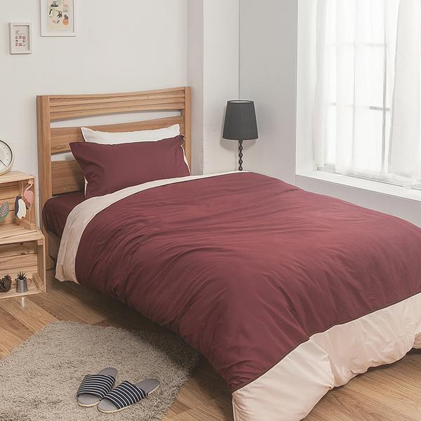 床包 / 單人【簡單生活-深系列-多色可選】含一件枕套 100%精梳棉 戀家小舖台灣製AAA101