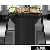 燒烤架家用木炭戶外燒烤爐野外烤串工具全套碳烤爐子加厚烤肉架子 3C優購