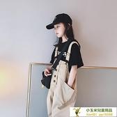 韓版洋氣哈倫兒童老爹褲子女童背帶褲中大童【小玉米】
