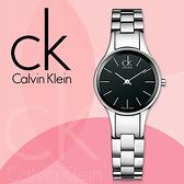 CK手錶專賣店 K4323130女錶 石英 黑面 不鏽鋼錶帶 藍寶石水晶玻璃鏡面 兩邊按壓式蝴蝶扣
