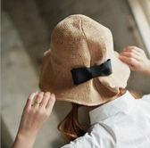 蝴蝶結戶外折疊盆帽 漁夫帽遮陽帽子太陽帽m138