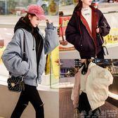 夹克外套 棉服女短款2018新款冬季百搭韩版bf宽松加厚棒球棉衣双面夹克潮流 Igo 免運 維多