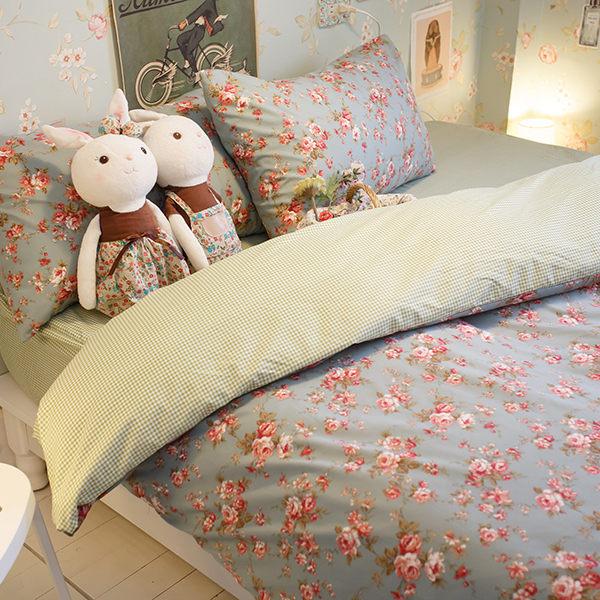 愛麗絲之花 D3雙人床包+涼被四件組 四季磨毛布 北歐風 台灣製造 棉床本舖