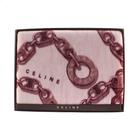 CELINE經典鎖鏈LOGO保暖絨毛大蓋毯(紫紅色)084037-10