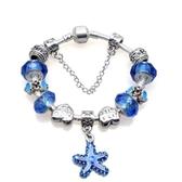 串珠手鍊-水晶飾品藍色海星生日情人節禮物女配件73bf67【時尚巴黎】