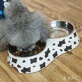 雙層密胺不銹鋼泰迪寵物食盤xx5766【每日三C】