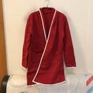 基本款修身顯瘦純色長版罩衫(M號/777-534)