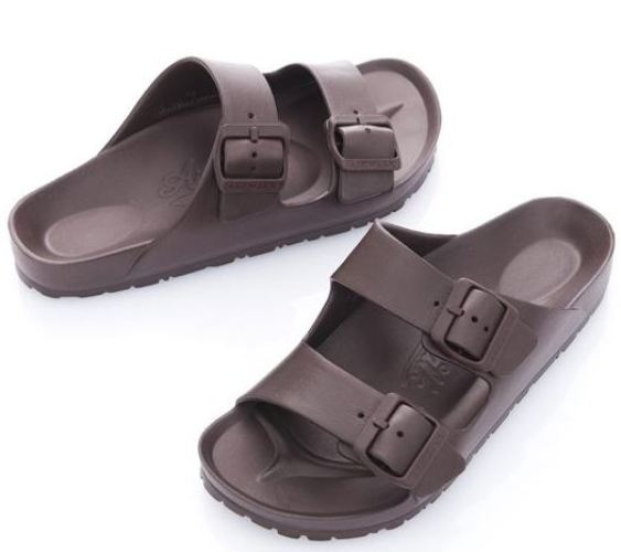 AIRWALK 男女款戶外休閒涼拖鞋 咖啡-NO.A755220102
