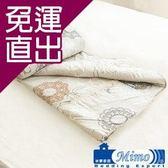 米夢家居 100%精梳純棉兩用鋪棉雙人被套-巴洛克(米)【免運直出】
