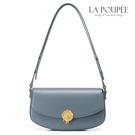 側背包 法式質感玫瑰封蠟裝飾腋下包 霧霾藍-La Poupee樂芙比質感包飾 (預購+好禮)
