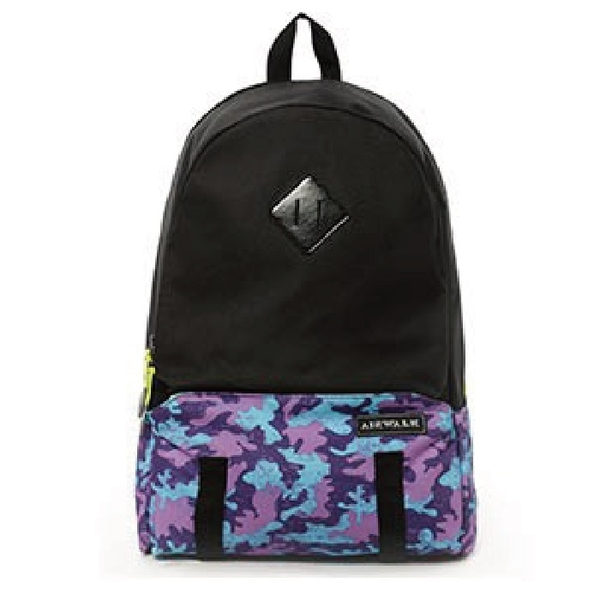 Backbager 背包族【美國 AIRWALK】運動迷彩大容量後背包/後肩包/背包/休閒包_紫色