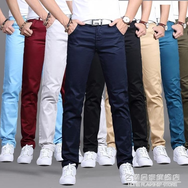夏季休閒褲男士直筒修身商務西褲男寬鬆黑色褲子男寬鬆長褲薄款潮 名購居家