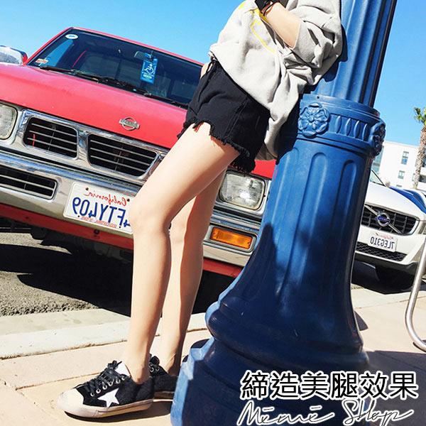 孕婦裝 MIMI別走【P61476】舒適羅曼史 毛邊破損時尚牛仔短褲 孕婦短褲