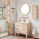 浴室櫃 組合 現代簡約北歐 落地式 洗臉台盆 洗手盆 櫃面盆衛生間洗漱台 快速出貨